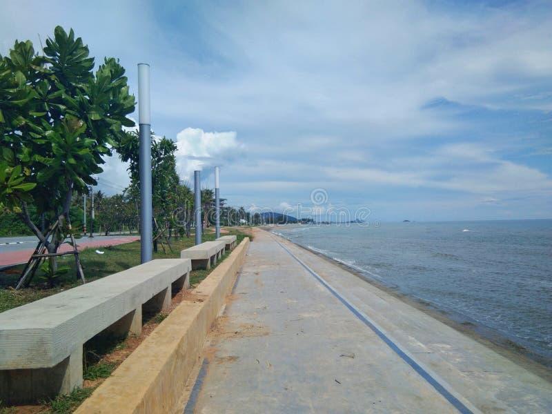 Pranburi van oriëntatiepunt, Prachuap Khiri Khan het strand royalty-vrije stock foto