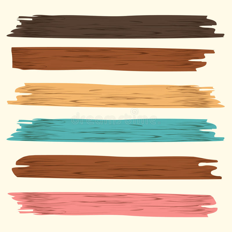 Prancha de madeira ilustração do vetor
