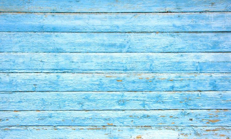 Prancha de madeira azul branca foto de stock