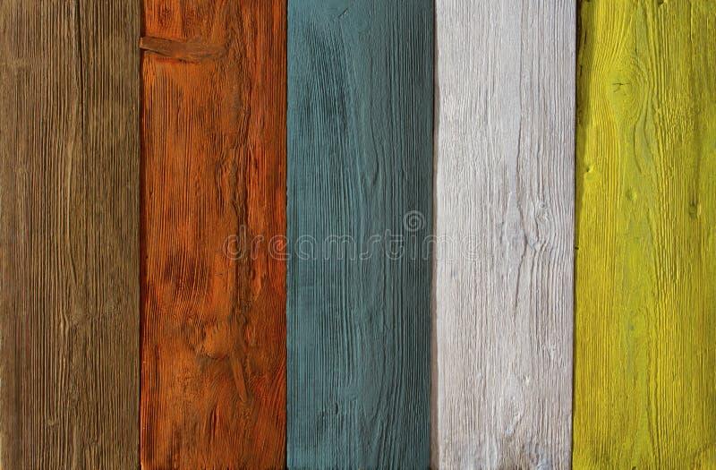 Prancha de madeira fundo colorido da textura, assoalho de madeira pintado foto de stock royalty free