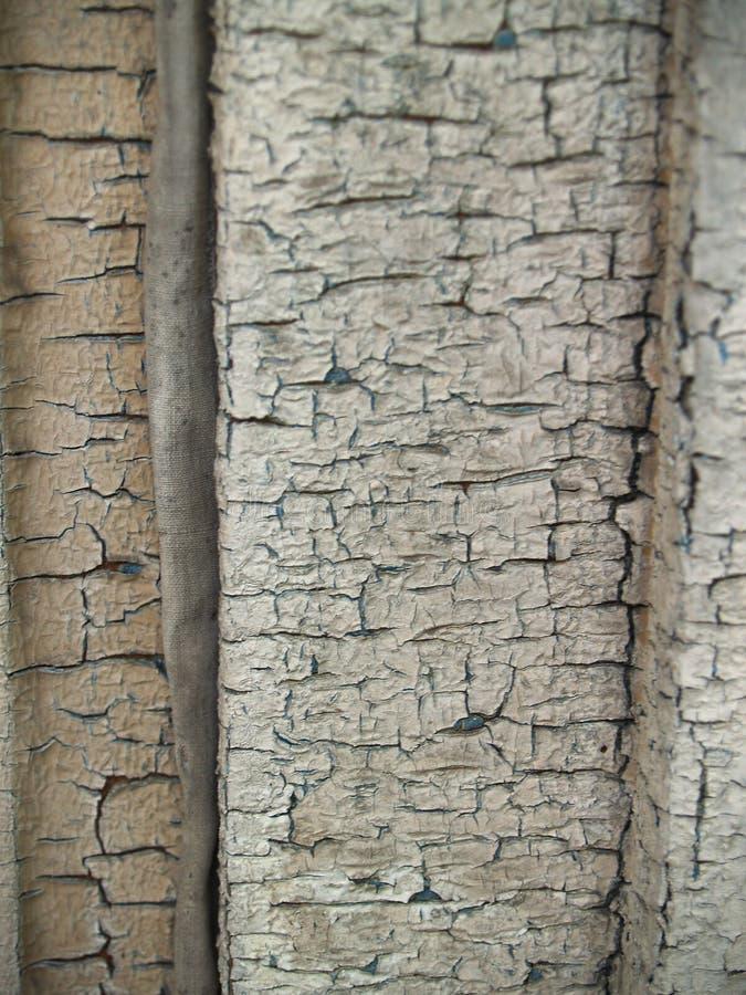 Prancha de madeira oxidada e pintura velha fotografia de stock royalty free
