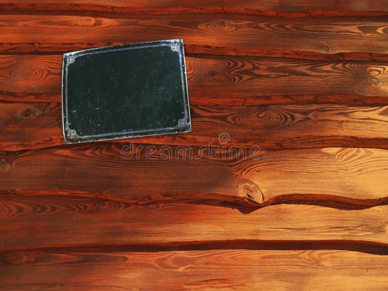 Pranchas de madeira com placa de identificação fotos de stock royalty free