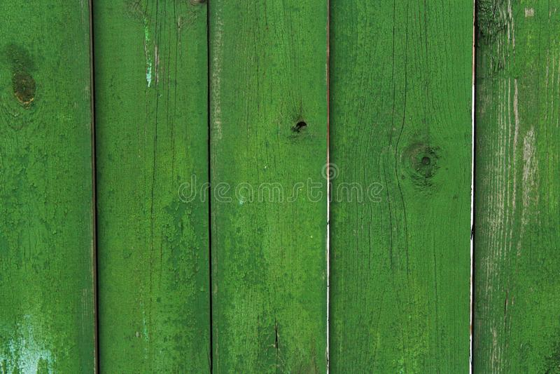 Pranchas de madeira da cor verde na cerca como um fundo abstrato fotografia de stock royalty free