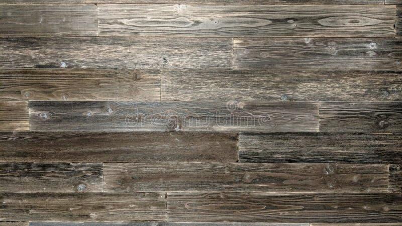 Pranchas de madeira pretas em uma parede ilustração do vetor