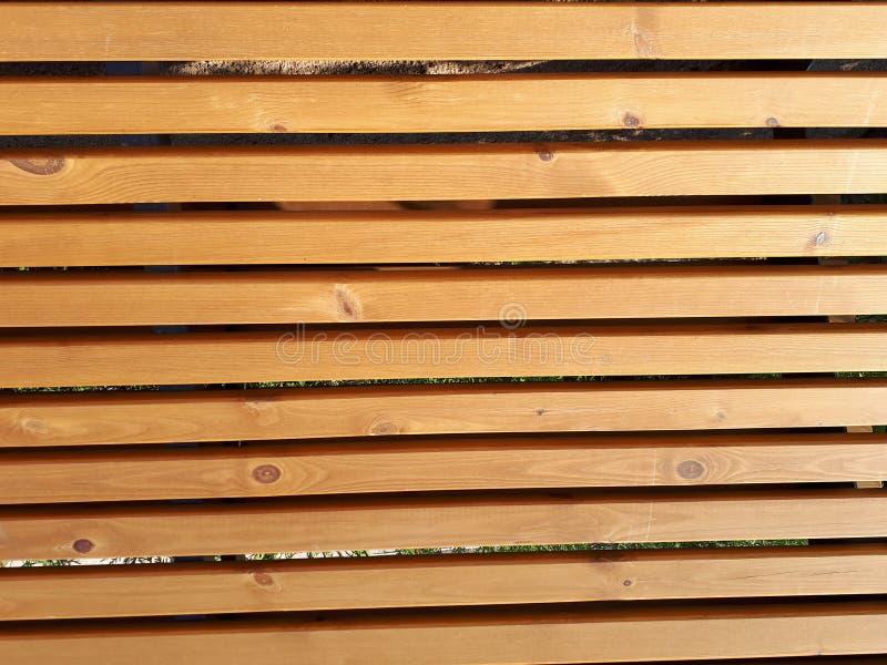 Pranchas de madeira de que o banco é feito fotografia de stock