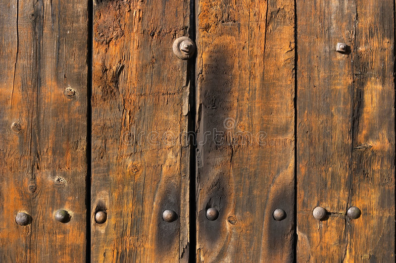 Pranchas de madeira resistidas e desgastadas velhas fotos de stock royalty free