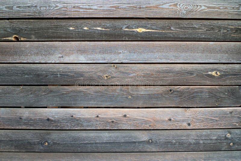 Pranchas de madeira velhas horizontalmente colocadas fotografia de stock royalty free