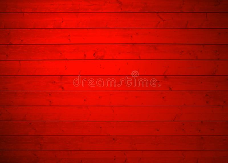 Pranchas de madeira withred fundo ilustração do vetor