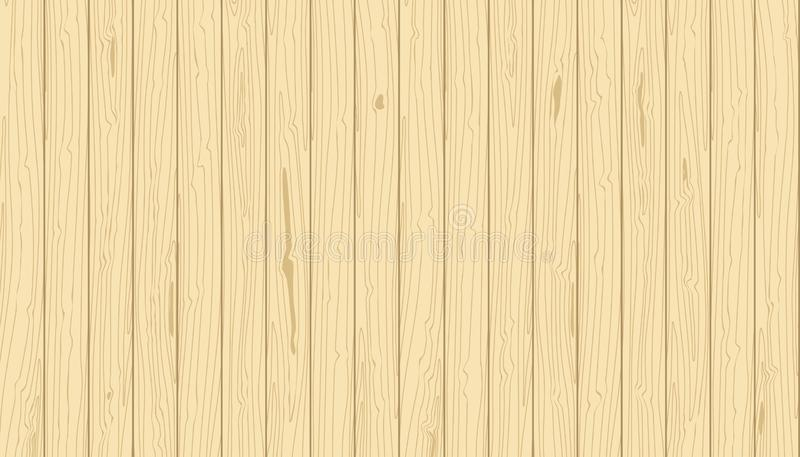 Pranchas verticais de madeira claras A grão do vetor textured o fundo Folheado do pinho ilustração do vetor