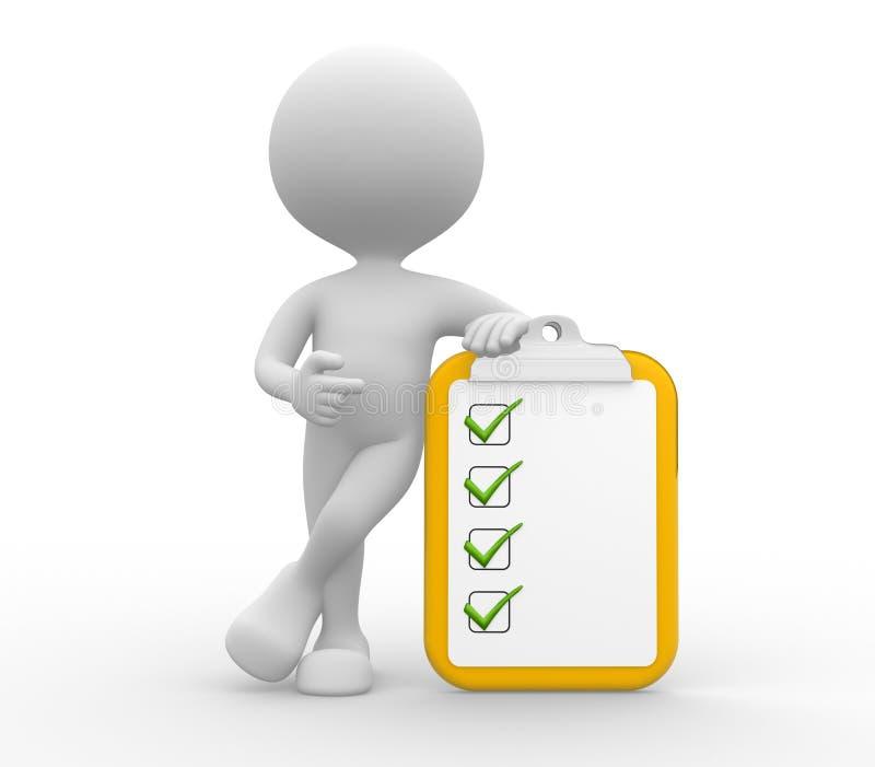 Prancheta e lista de verificação. ilustração stock