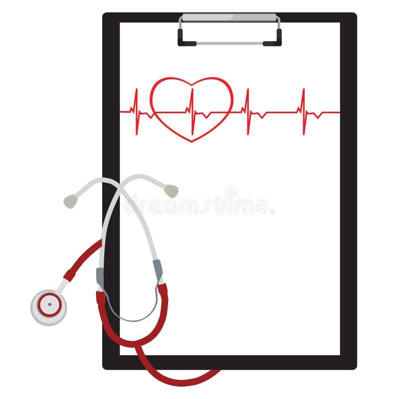 Prancheta médica ilustração royalty free