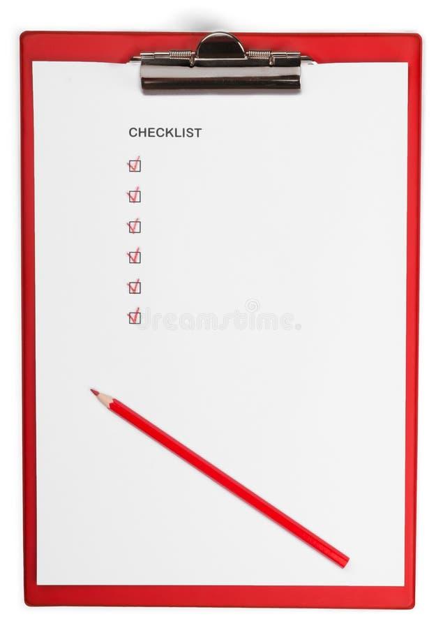 Prancheta vazia com lista de verificação e lápis imagem de stock royalty free