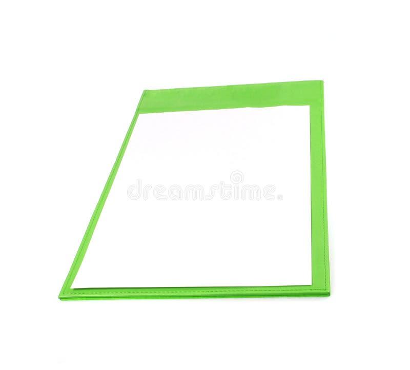 Prancheta verde isolada fotos de stock