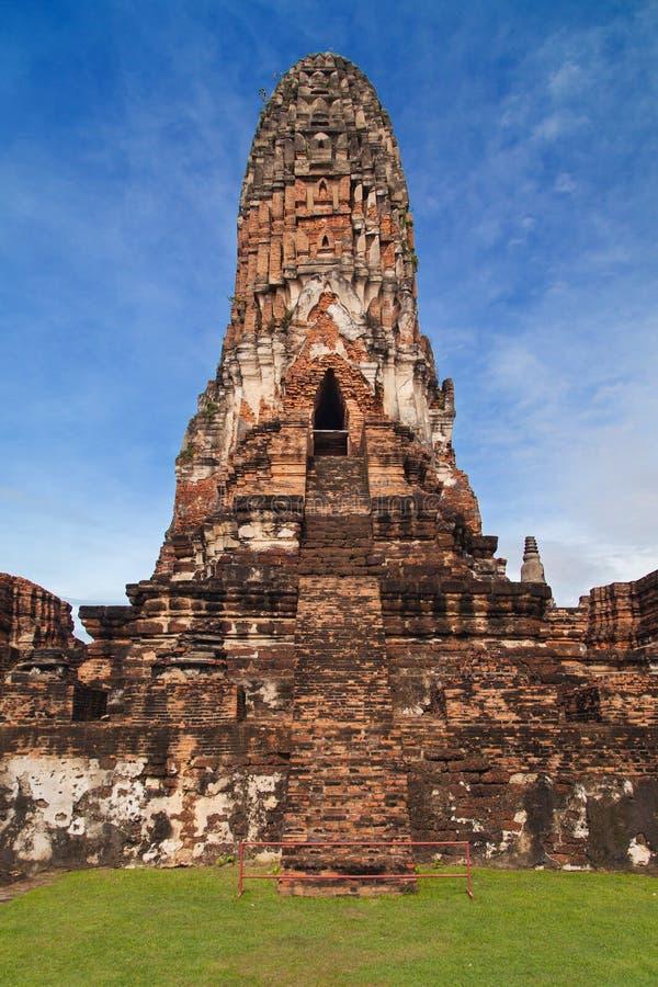 Prang central de Wat Phra Ram fotos de archivo