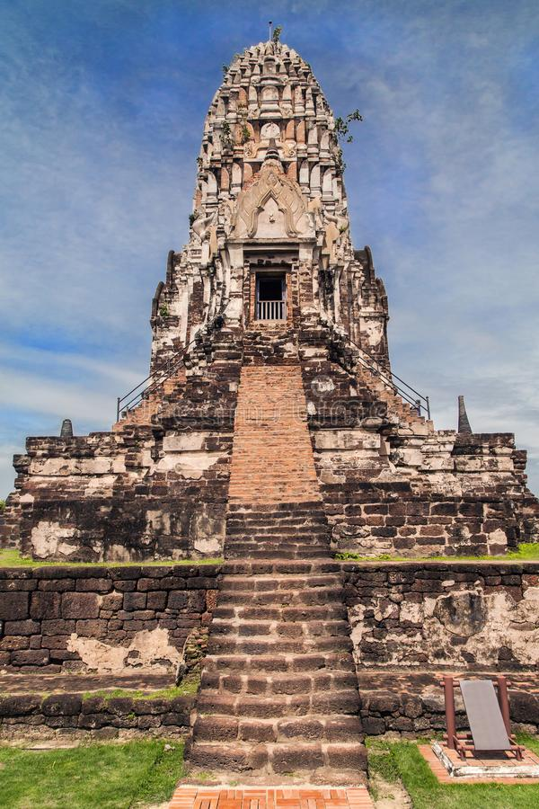 Prang central de Wat Ratchaburana imágenes de archivo libres de regalías