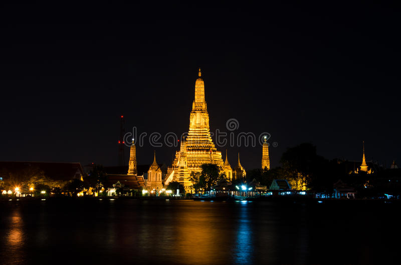 Prang of Wat Arun, Bangkok Thailand. Buddhist temples along the Chao Phraya River stock photography