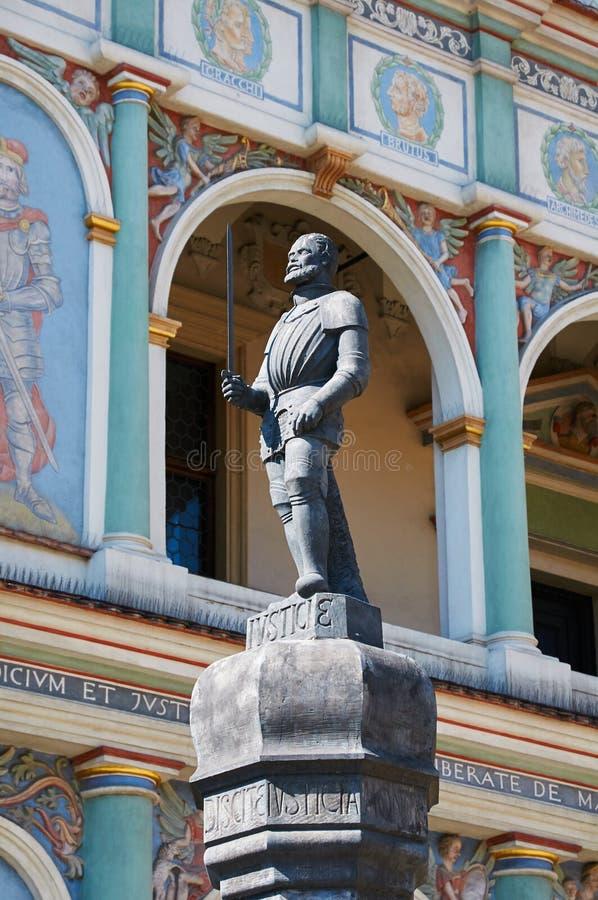 Pranger-Statue, alter Marktplatz poznan stockbilder