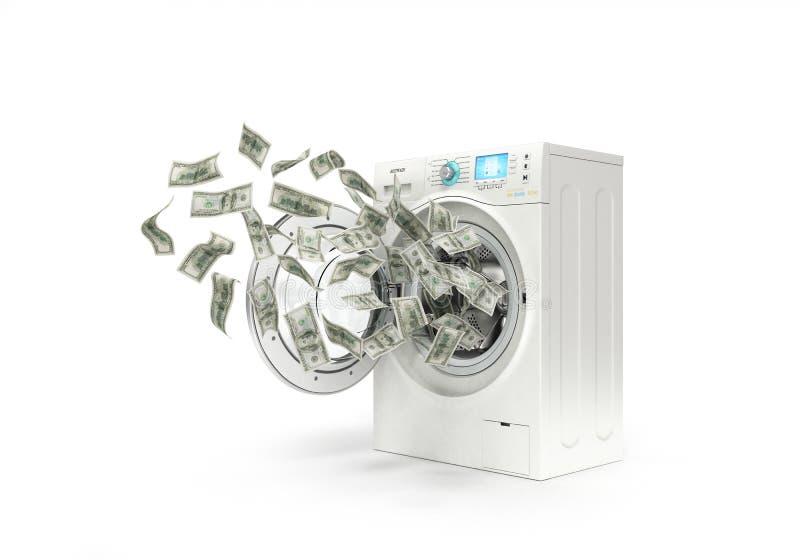 Prania brudnych pieniędzy pojęcie, obrazy stock