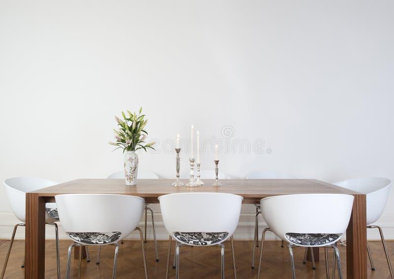 Pranzare stanza moderna immagine stock immagine di vuoto for Stanza da pranzo moderna