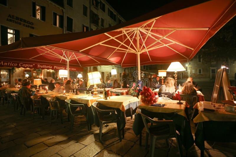 Pranzare veneziano fotografia stock
