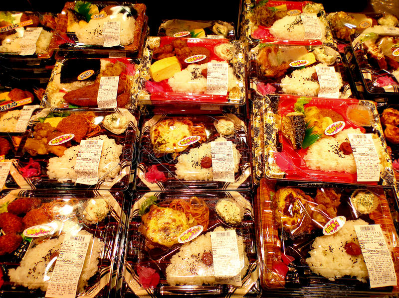 Pranzi giapponesi della scatola di obentos fotografie stock