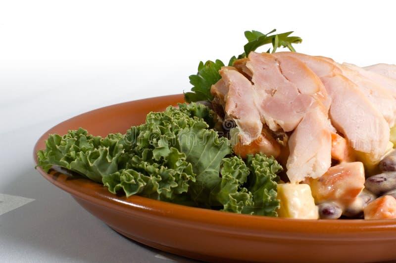 Pranzo affumicato del pollo immagine stock
