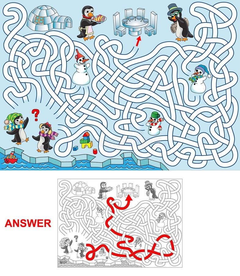 Pranzo ai pinguini royalty illustrazione gratis