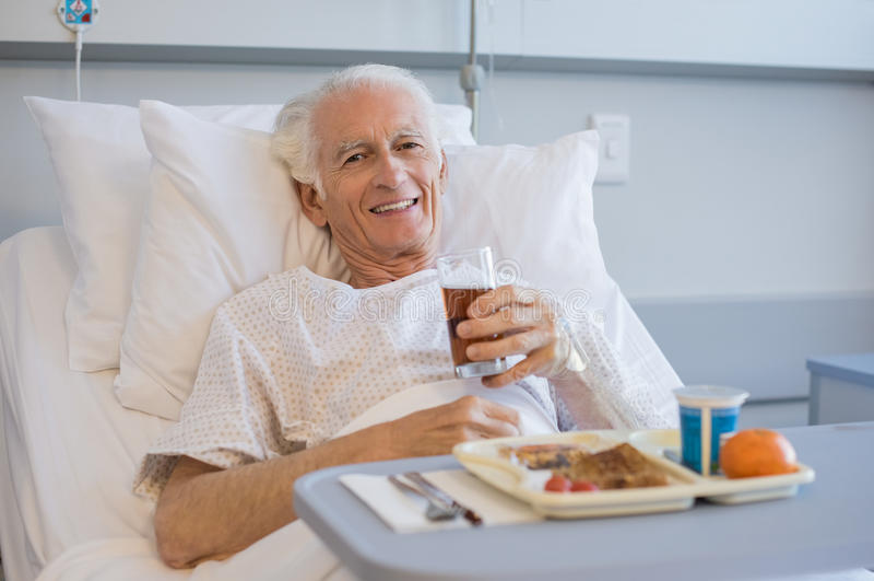 Pranzo all'ospedale fotografia stock