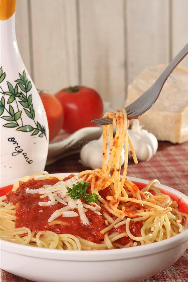 Pranzo degli spaghetti fotografie stock libere da diritti