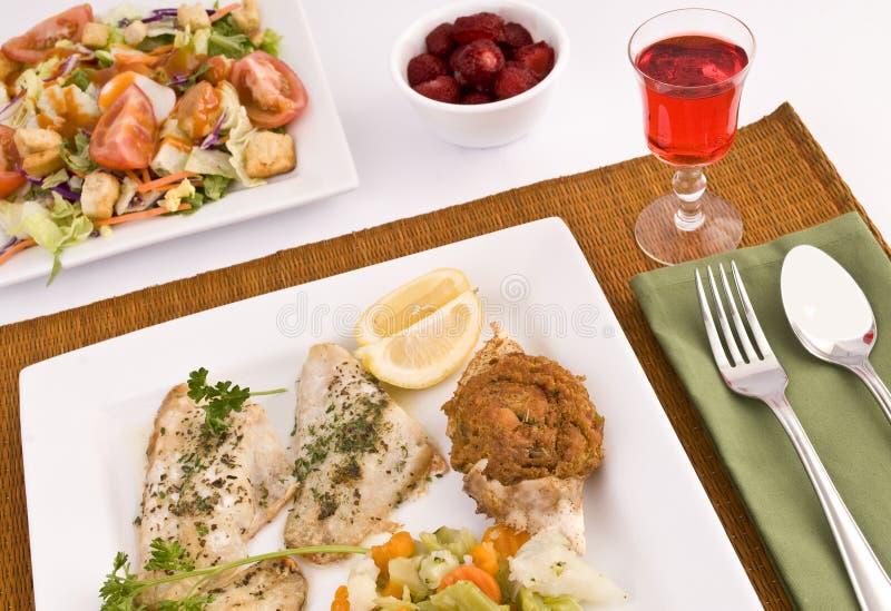 Pranzo dei pesci immagine stock