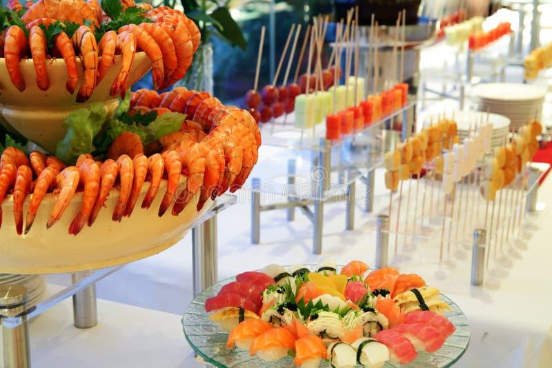 Pranzo del buffet immagini stock