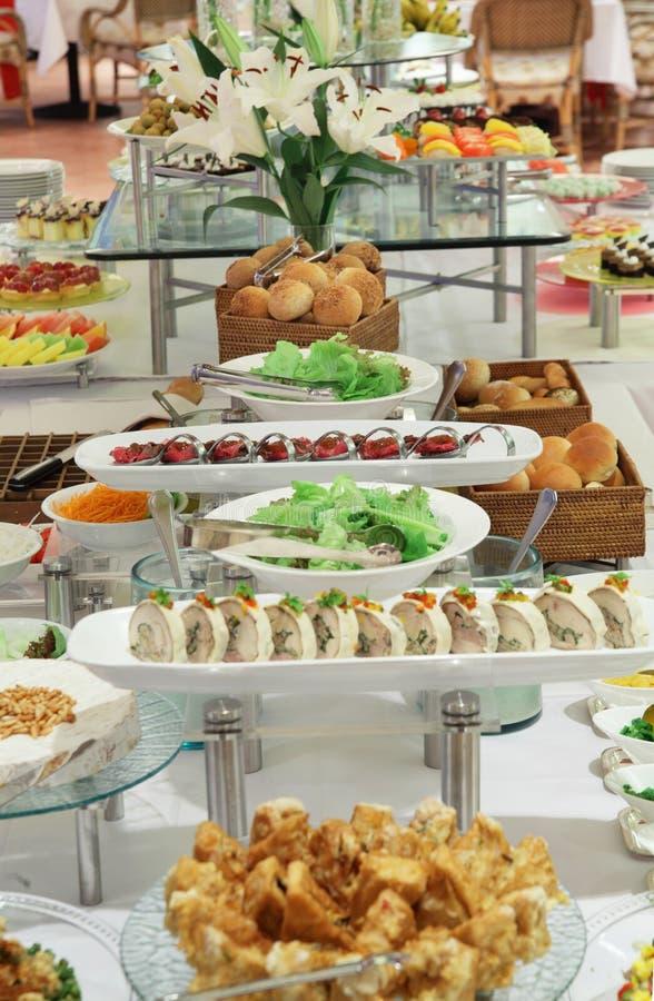 Pranzo del buffet fotografia stock