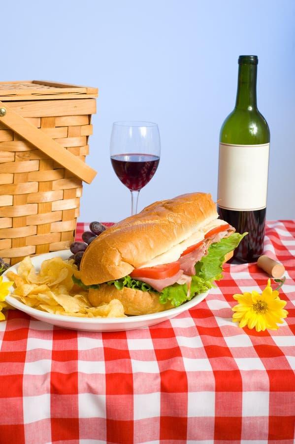 Pranzo di picnic fotografie stock