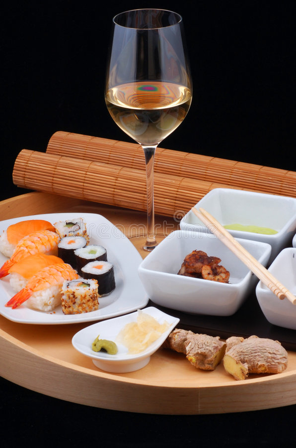 Pranzo giapponese dei sushi fotografia stock