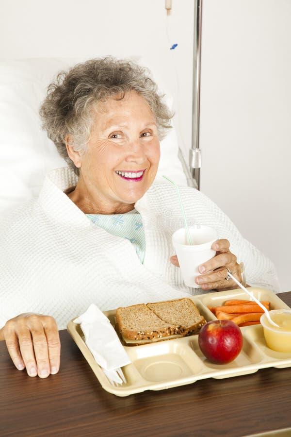 Pranzo nutriente dell'ospedale fotografie stock libere da diritti