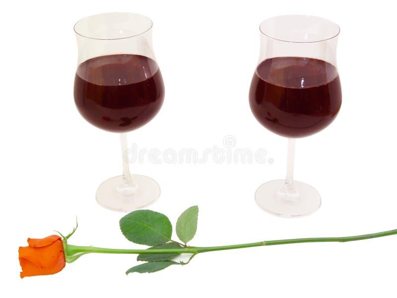 Pranzo romantico fotografie stock