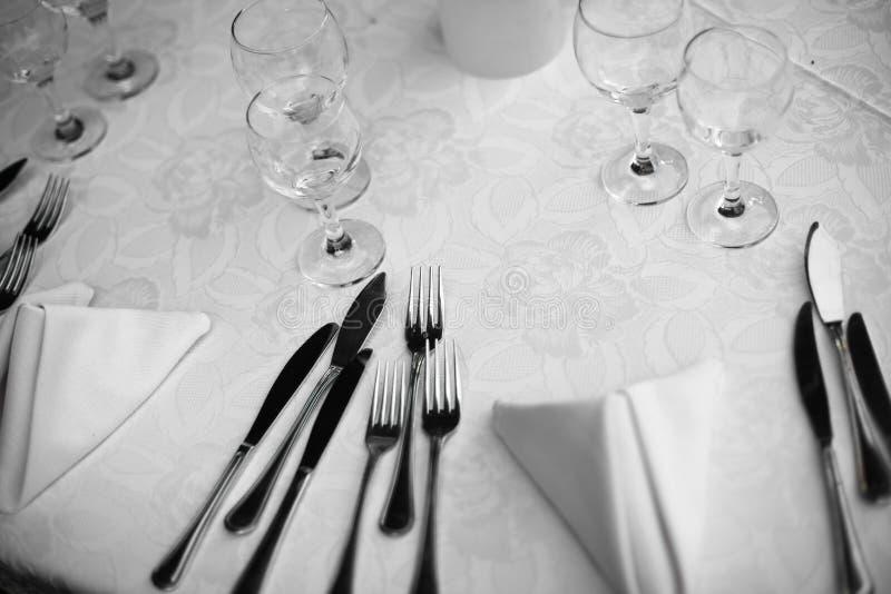 Pranzo in un ristorante fotografia stock