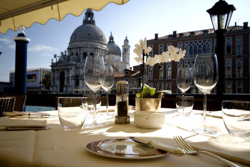 Pranzo a Venezia fotografia stock