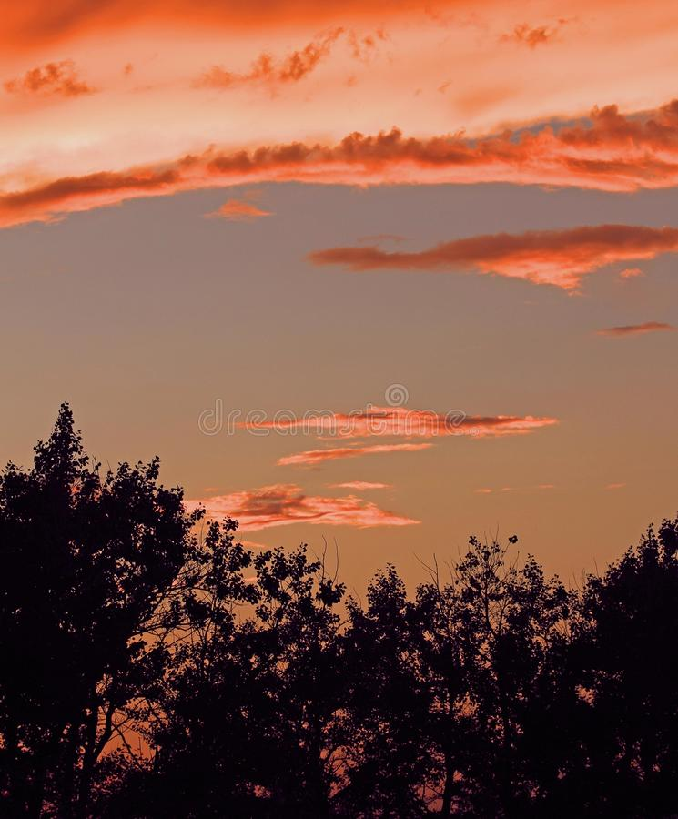 Prarie Sunset stock photography