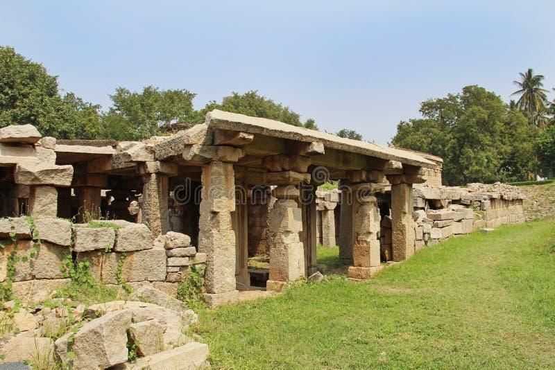 Prasanna Virupaksha-Tempel ist alias Untertage-Shiva Temple Hampi, Karnataka, Indien stockfoto