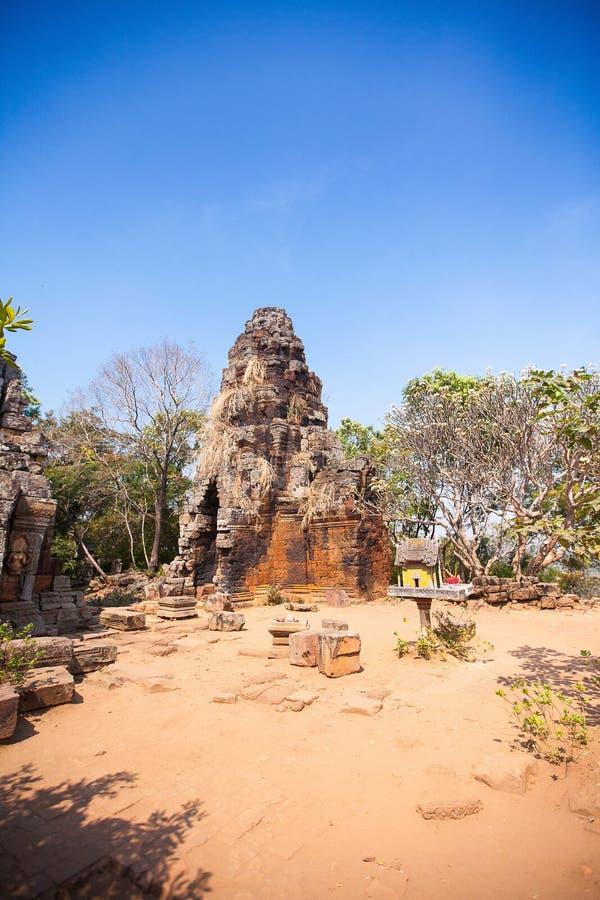 Prasat Banan temple in Battambang, Cambodia royalty free stock image