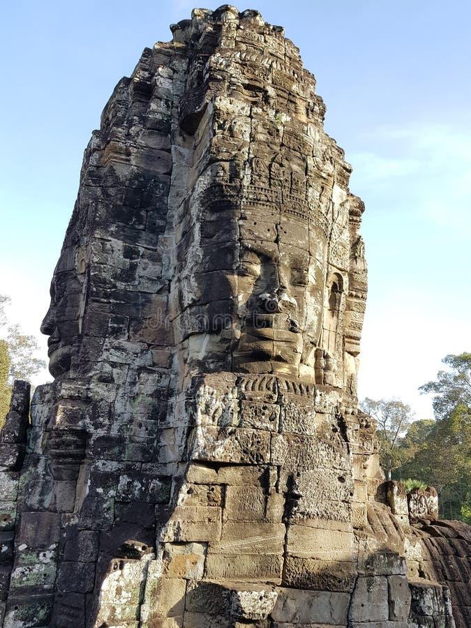 Prasat Bayon statua zdjęcie stock