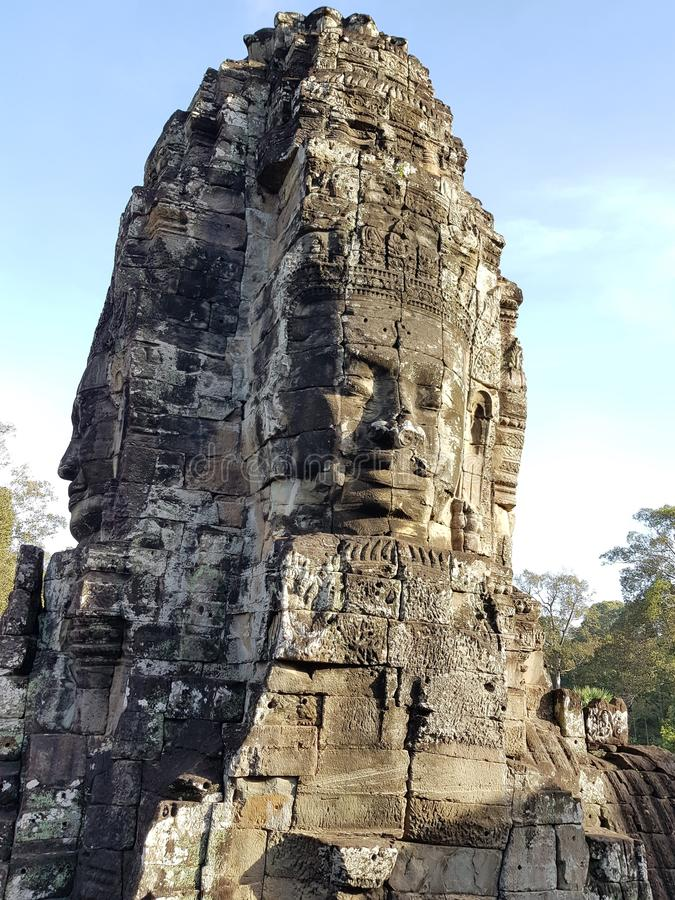 Prasat Bayon Statue stock photo