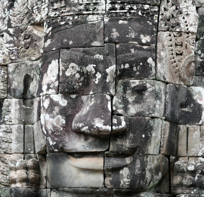 Prasat Bayon tempel i Angkor Thom, Cambodja royaltyfri foto