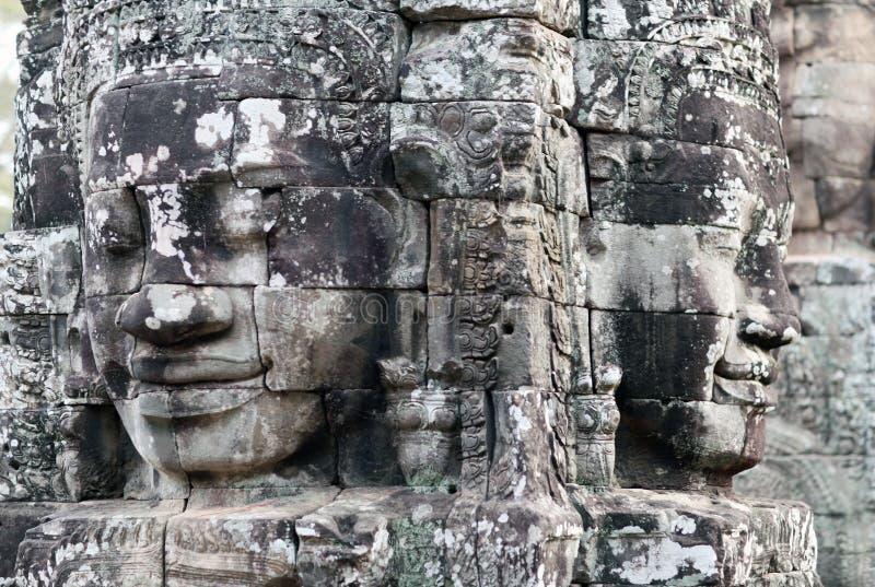 Prasat Bayon tempel i Angkor Thom, Cambodja royaltyfria bilder