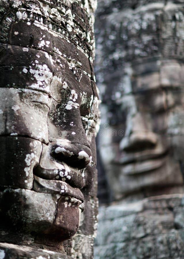 Prasat Bayon tempel i Angkor Thom, Cambodja arkivfoto