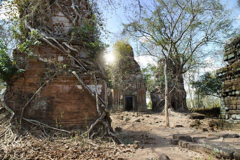 Prasat Chrap ruin, Koh Ker temple complex, Cambodia stock photography