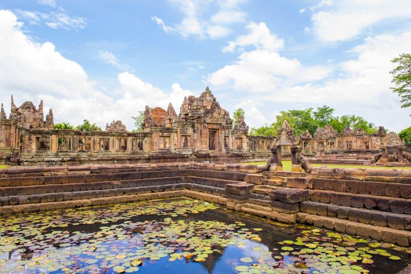 Prasat Hin Muang Tam (Thaise naam), het steenkasteel Muang Tam in Thailand, royalty-vrije stock afbeeldingen