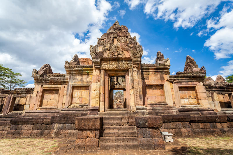 Prasat Hin Mueang Tam Hindu religious ruin located in Buri Ram Province Thailand. Built around the 10th-12th century and used as a religious shrine in Hinduism stock photos