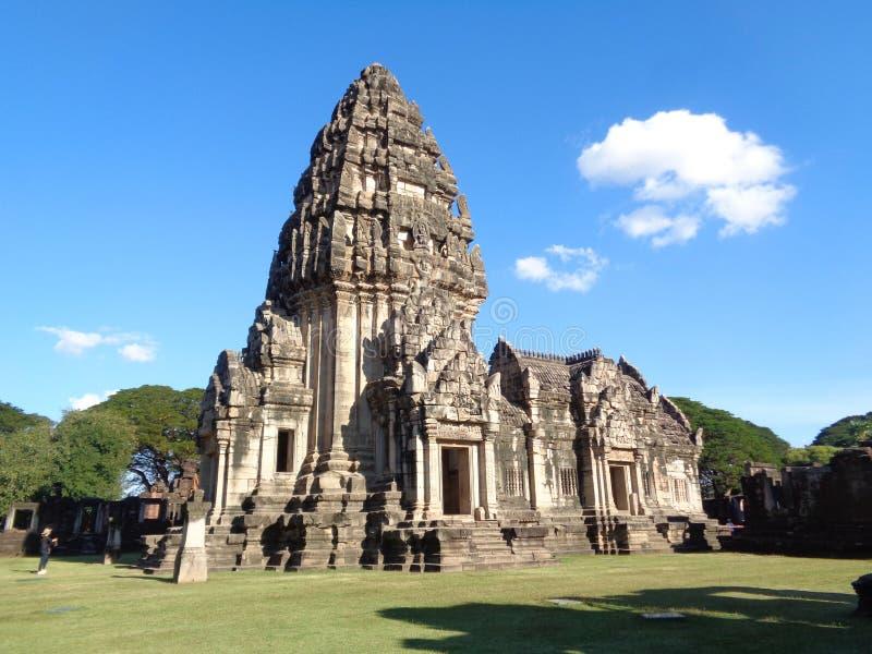 Prasat Hin Phimai,在呵叻porvince的古老高棉寺庙复合体内在圣所  库存图片